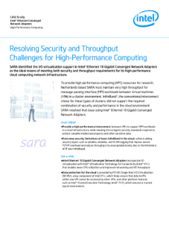 Resolve Security and Throughput HPC Cloud Challenges